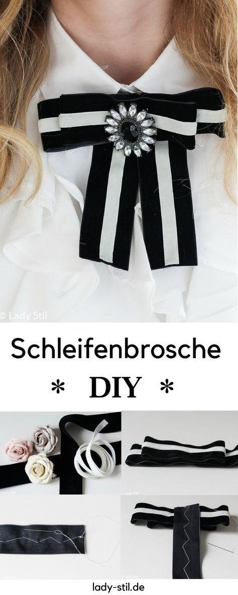 schleifenbrosche mode diy freebooks schleifenbrosche. Black Bedroom Furniture Sets. Home Design Ideas