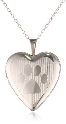 Momento Lockets Sterling Silver Heart Shaped Locket with Paw Print Necklace  //Price: $ & FREE Shipping //     #shoes #style #heels #fashion #womenshoes