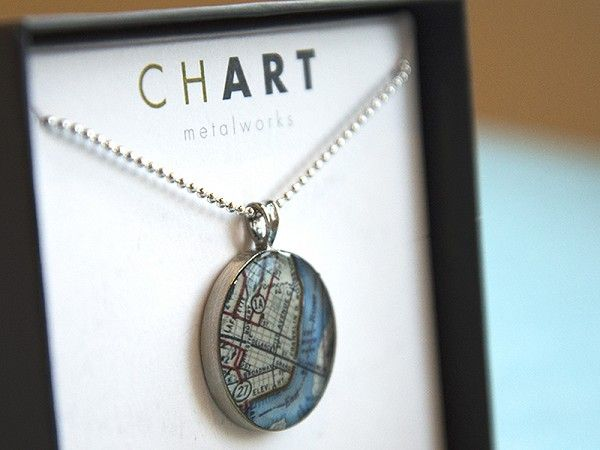 Chart Metalworks Beach Necklaces With Handcrafted Nautical Map Jewelry And Accessories Not Just The Depths Of Water Heights Land
