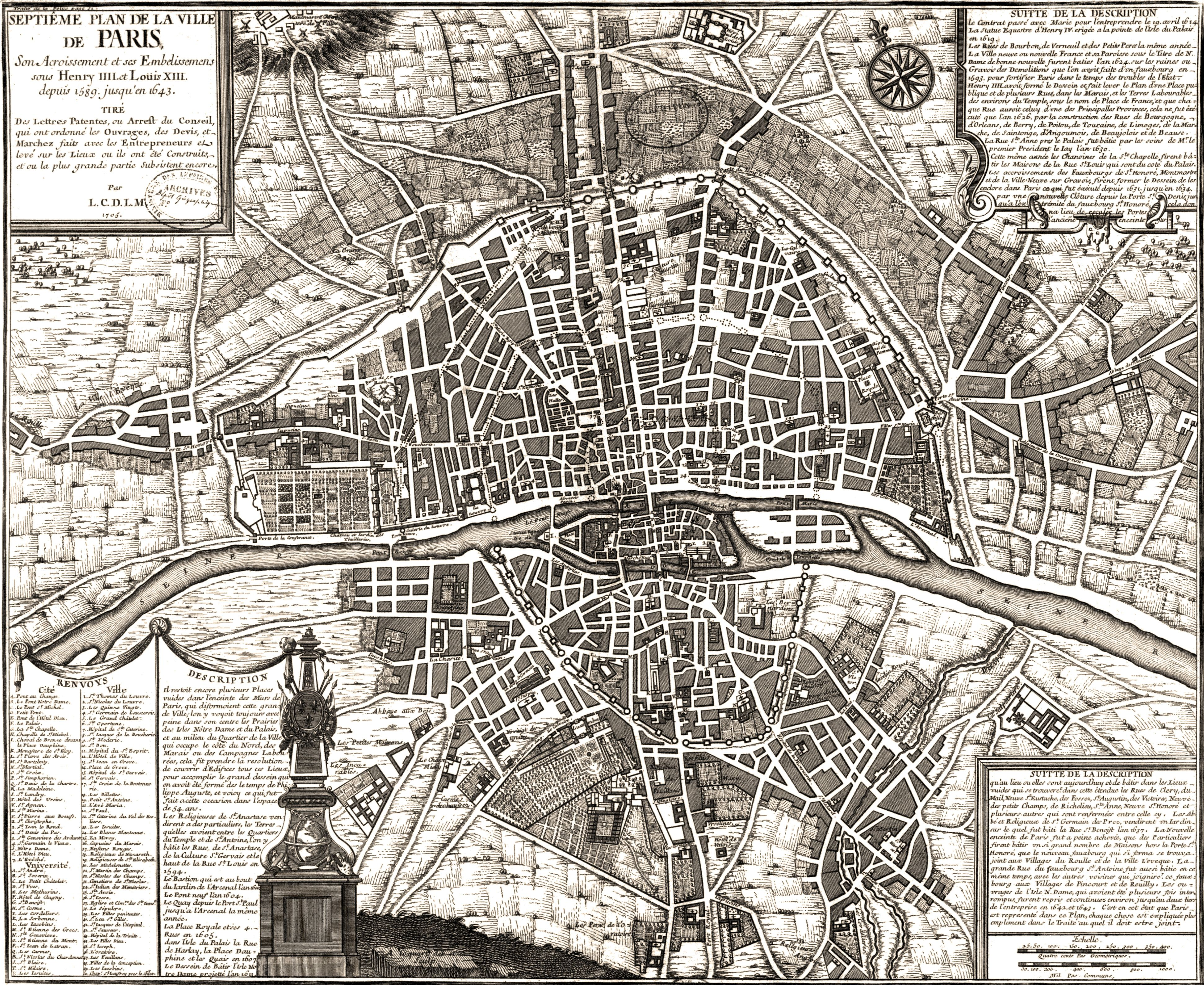 Map of Paris 1643  Old Maps of Paris  Abstract facts  Pinterest