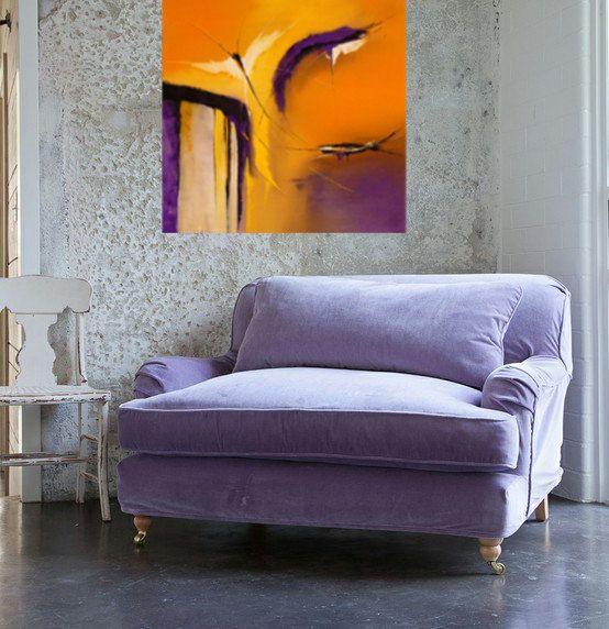 The Passage, Modern abstract print, orange, purple, yellow, contemporary, wall art, print, giclee