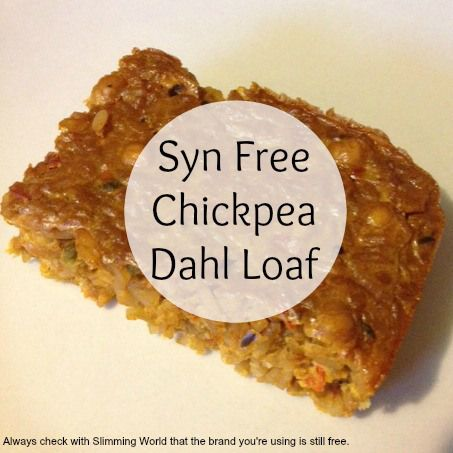 Slimming World Syn Free Chickpea Dahl Loaf Slimming