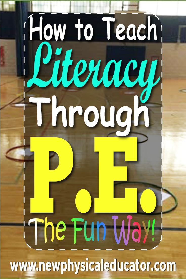 How I Integrate Literacy into PE Physical education