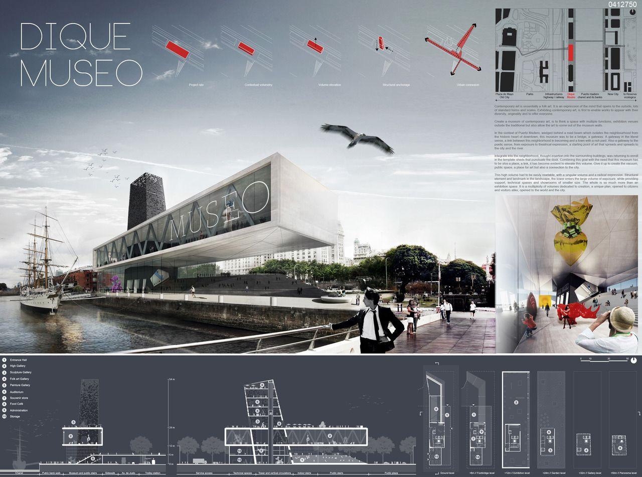 Colour And Layout With Tech Drawings At The Bottom Honorable Mention