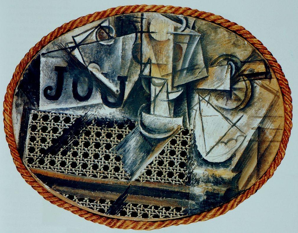 Pablo Picasso - Nature morte à la chaise cannée - 1912 Huile et ...