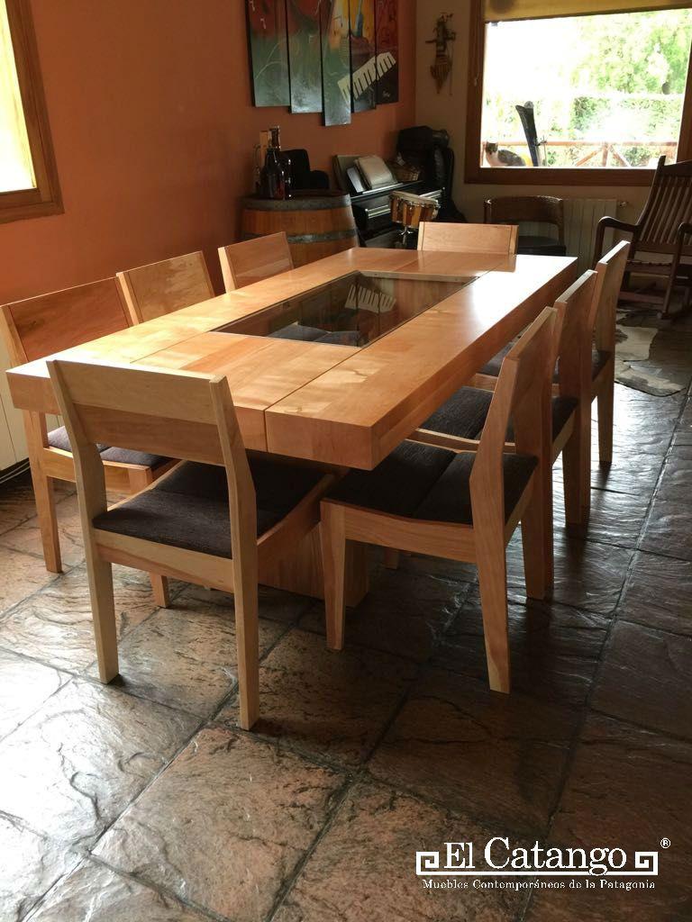 Mesa neuqu n comedores sillas comedor madera for Muebles para comedores industriales