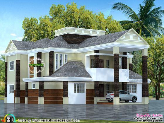 Colonial type 5 bedroom home in Kerala Remodel Pinterest