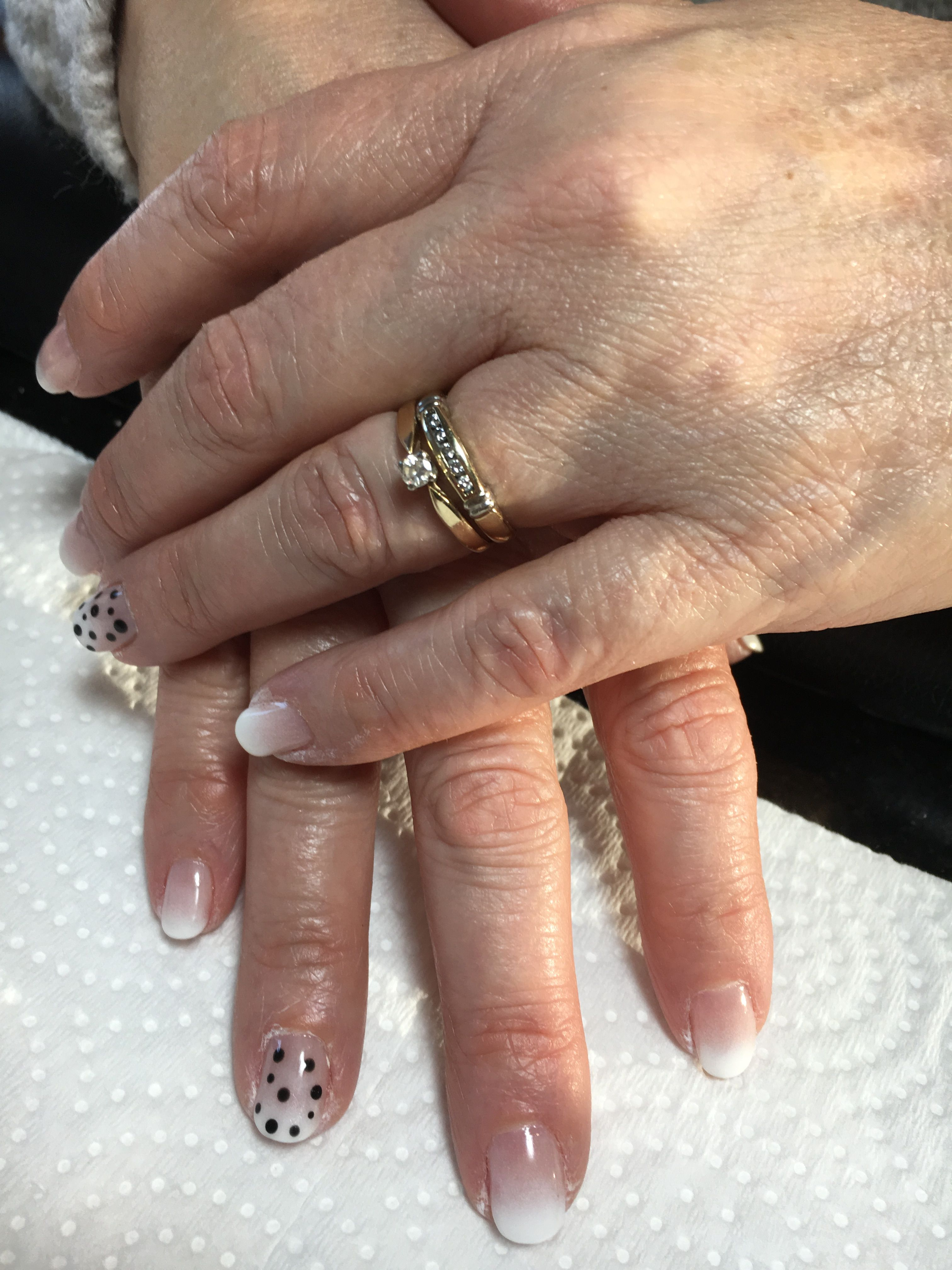Black and White faded French nails | Nails by Linh | Pinterest ...