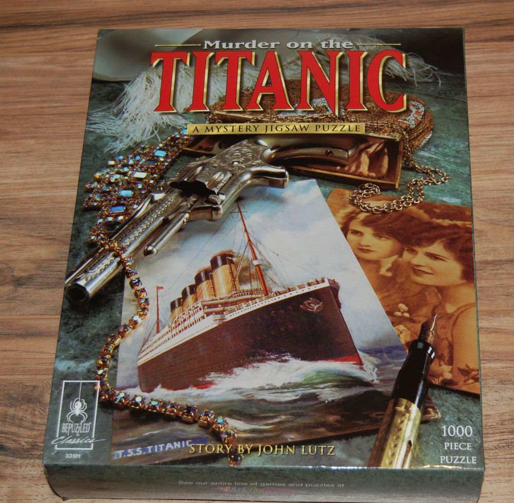 Murder on the Titanic Mystery Jigsaw Puzzle Complete BePuzzled ...