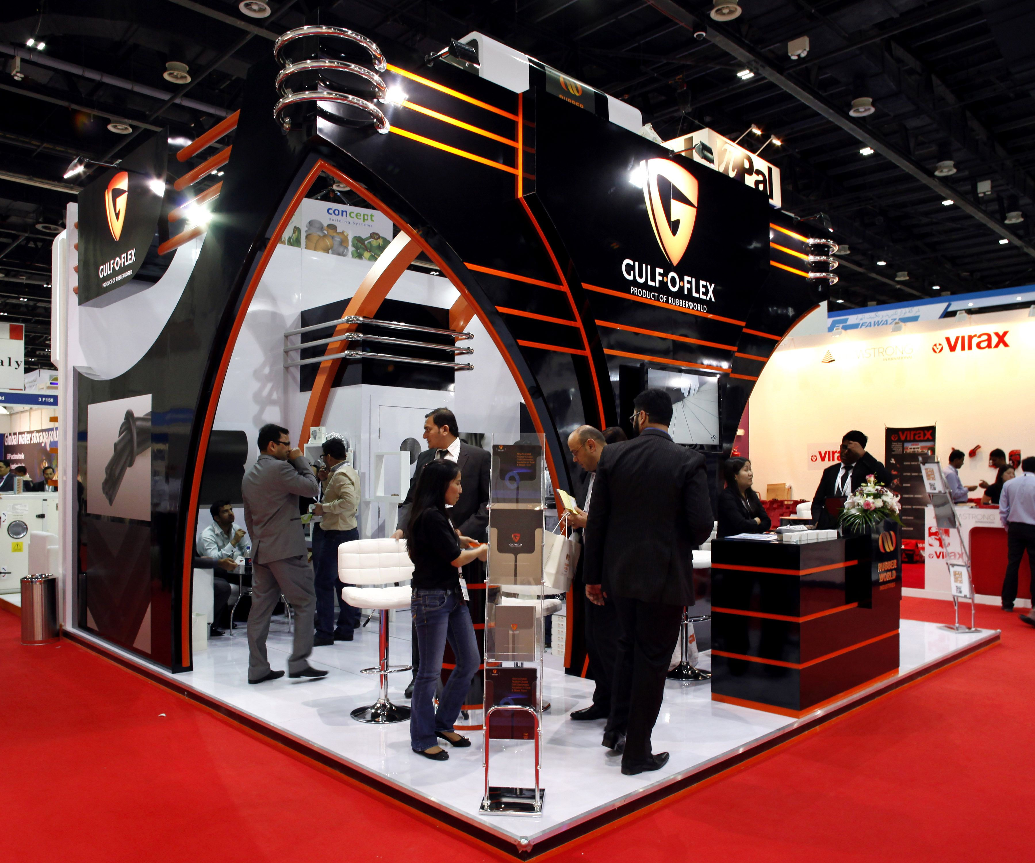 Flexible Exhibition Stands : Gulf o flex exhibition stand designed and produced by