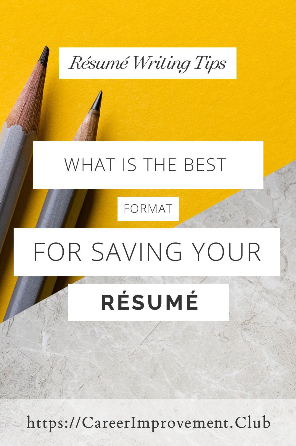 What is the best format for a résumé? The Career