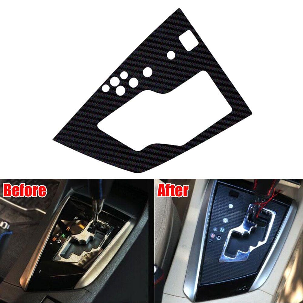 1pc Car styling Black Console Gear Shift Panel Sticker