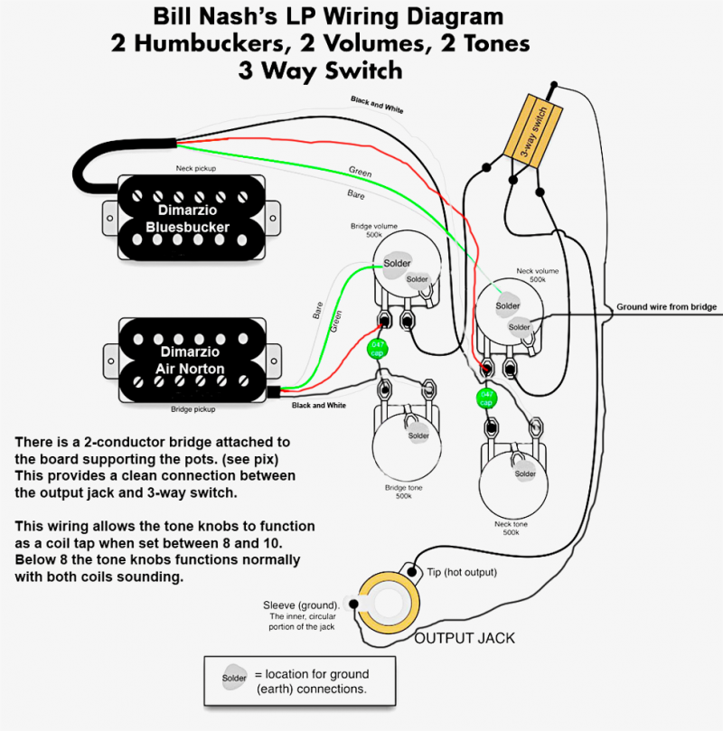 Wiring Diagram Guitar Les Paul Gibson Les Paul Epiphone Les Paul