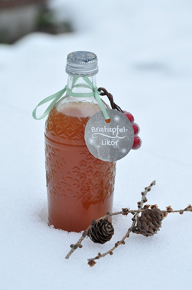 Photo of Roasted pork liqueur with label for download Smillas Wohngefuehl