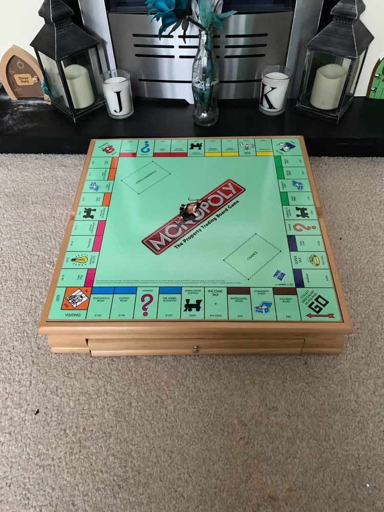 Monopoly Wooden Compendium Cluedo Chess Chequers Cards