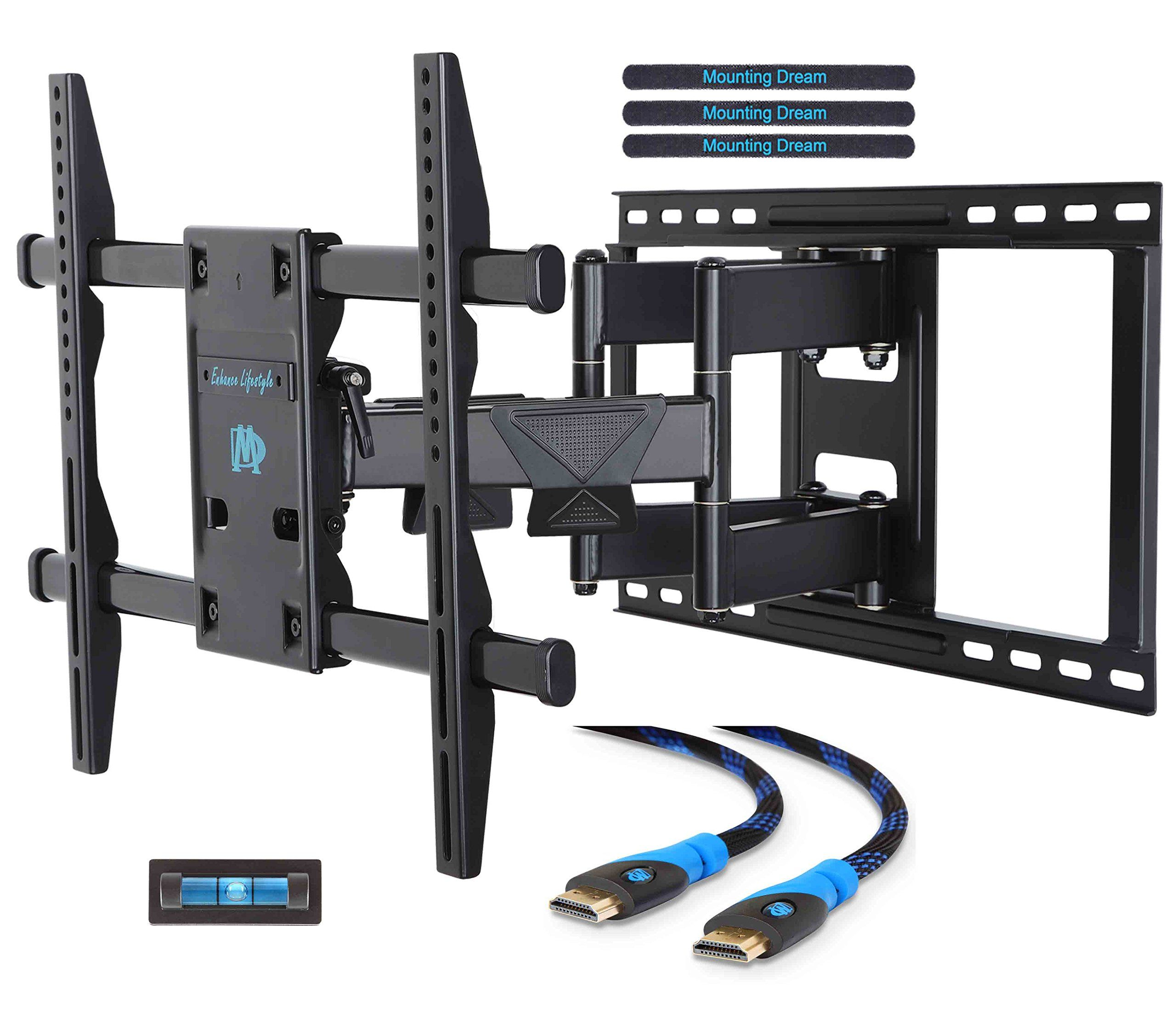 Mounting Dream Md2298 Premium Tv Wall Mount Bracket With Full Motion Articulating Arm For Most 42 70 I Wall Mounted Tv Wall Mount Bracket Tv Wall Mount Bracket