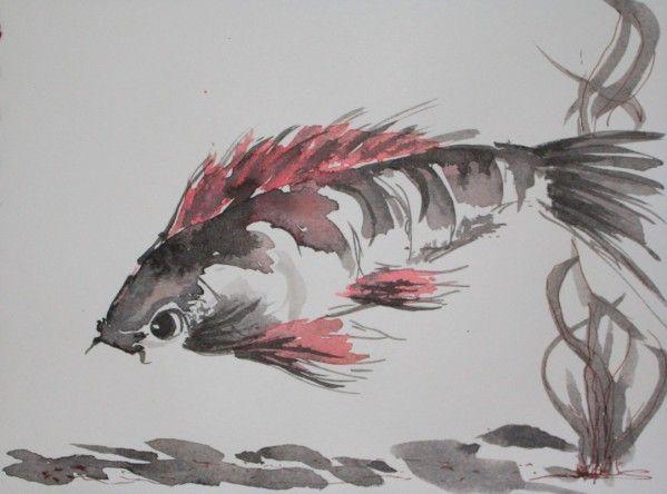 Symbolisme de la carpe koi encre de chine pinterest for Livre carpe koi