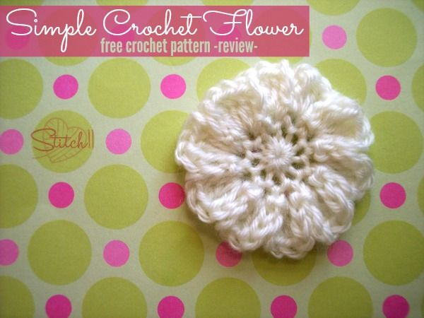 Easy Crochet Flower Free Crochet Pattern Review Moogly