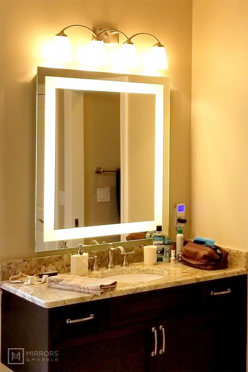 Front Lighted Led Bathroom Vanity Mirror 36 X 40 Rectangular Wall Mounted Bathroommirror Bathroom Vanity Mirror Bathroom Mirror Bathroom Model 36 x 40 mirror