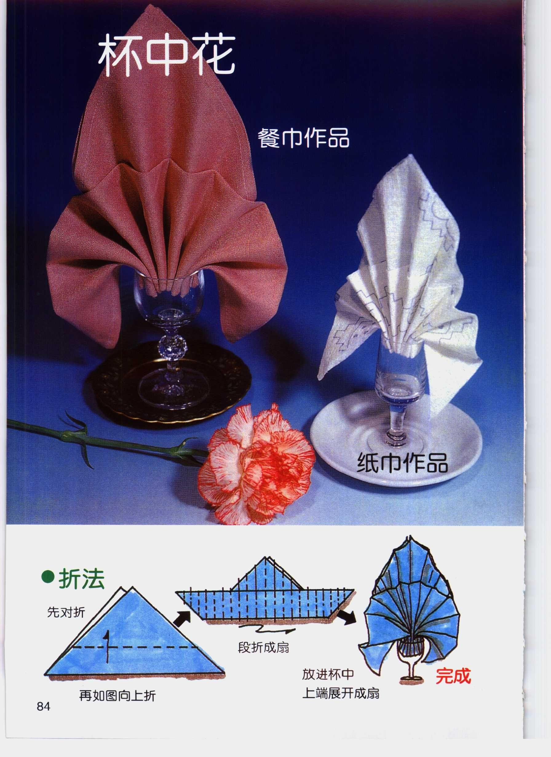 Fold a Fancy Napkin DIY: Fold Napkins - Flower in the ... - photo#41