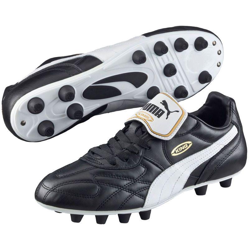 Soccer Puma King Top di FG Boots - Black/White | Soccer ...