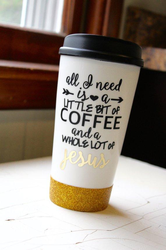 15 Oz Ceramic Coffee Travel Mug All I