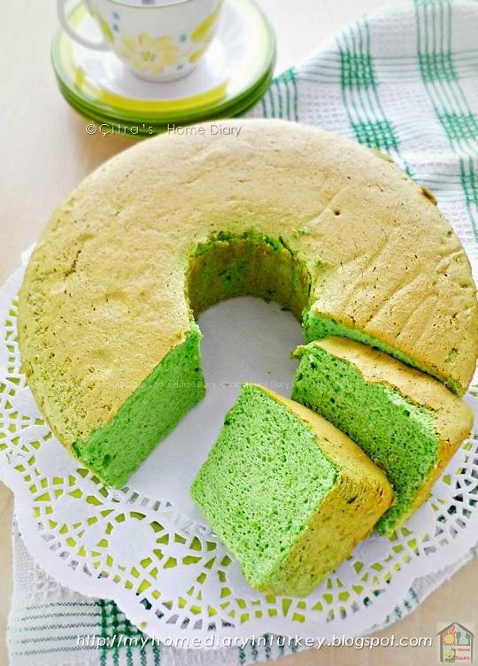 Citra S Home Diary Matcha Green Tea Angel Food Cake Recipe Resep Matcha Angel Food Cake Dari Putih Telur Angel Food Food Tea Cakes Recipes