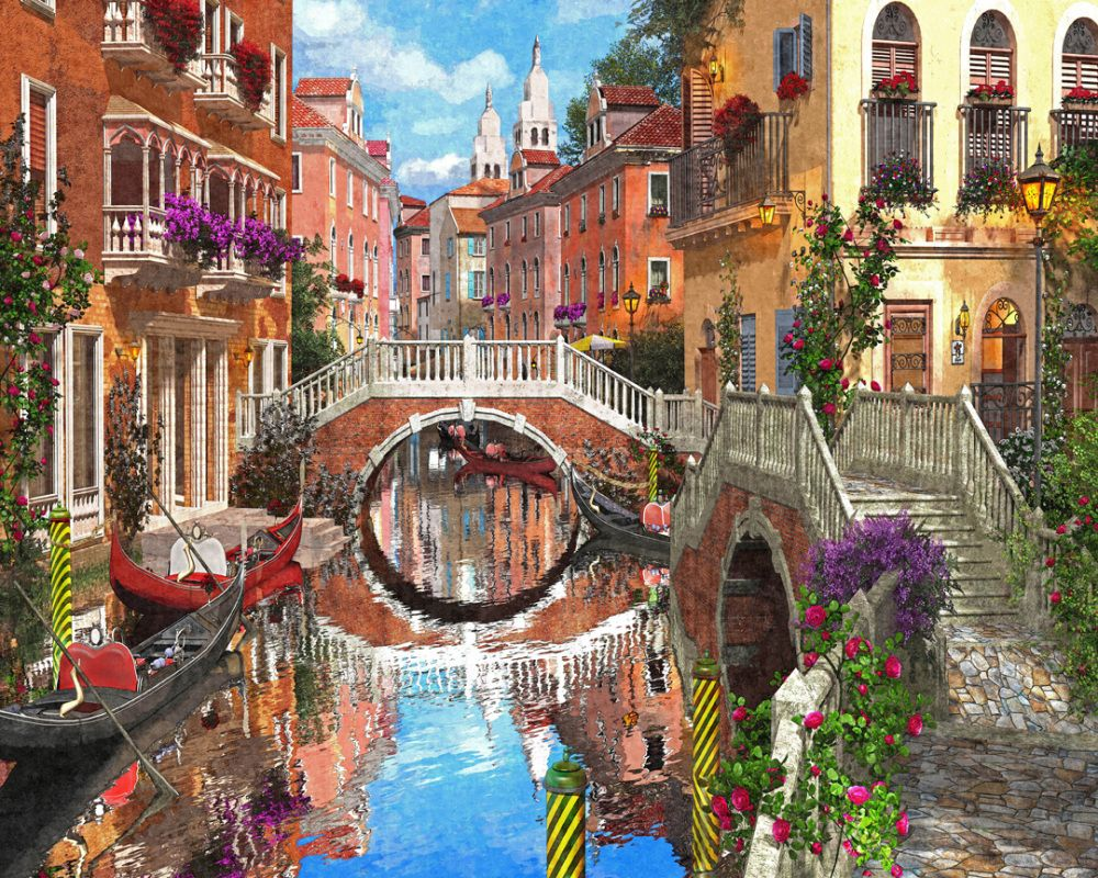 Venetian Waterway - 1000pc Jigsaw Puzzle by Vermont