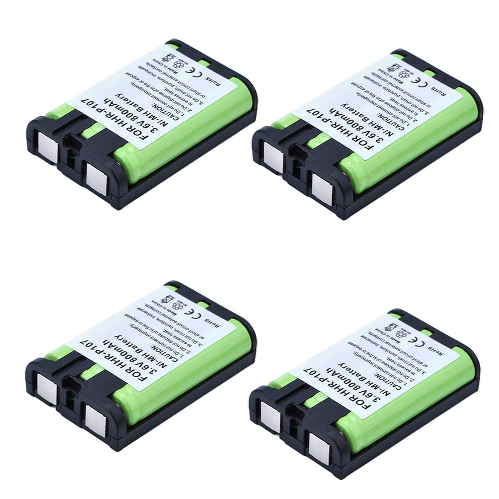 Masione 4 Pack Hhr P107 Cordless Phone Battery 3 6v Ni Mh Replacement Rechargeable Battery For Panasonic Hh Cordless Phone Phone Battery Rechargeable Batteries