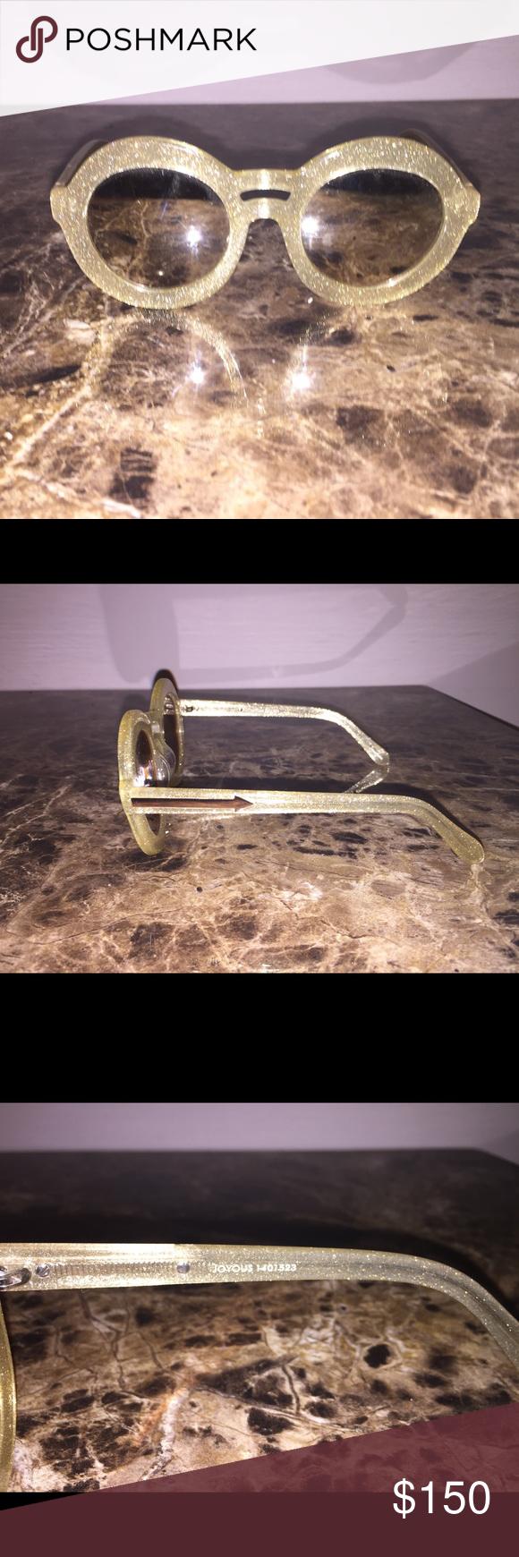 d034291033 Karen Walker Joyous Gold Glitter Round Sunglasses - Gold Glitter, Round  Frame - 100%