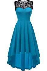 MAYOGO Vintage Elegant Kleid aus Spitze Damen ...