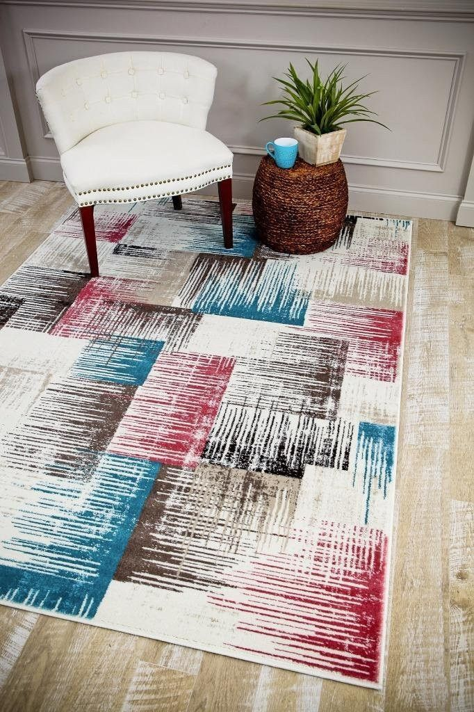 Multi Color Colorful Abstract Modern Contemporary Discount Area