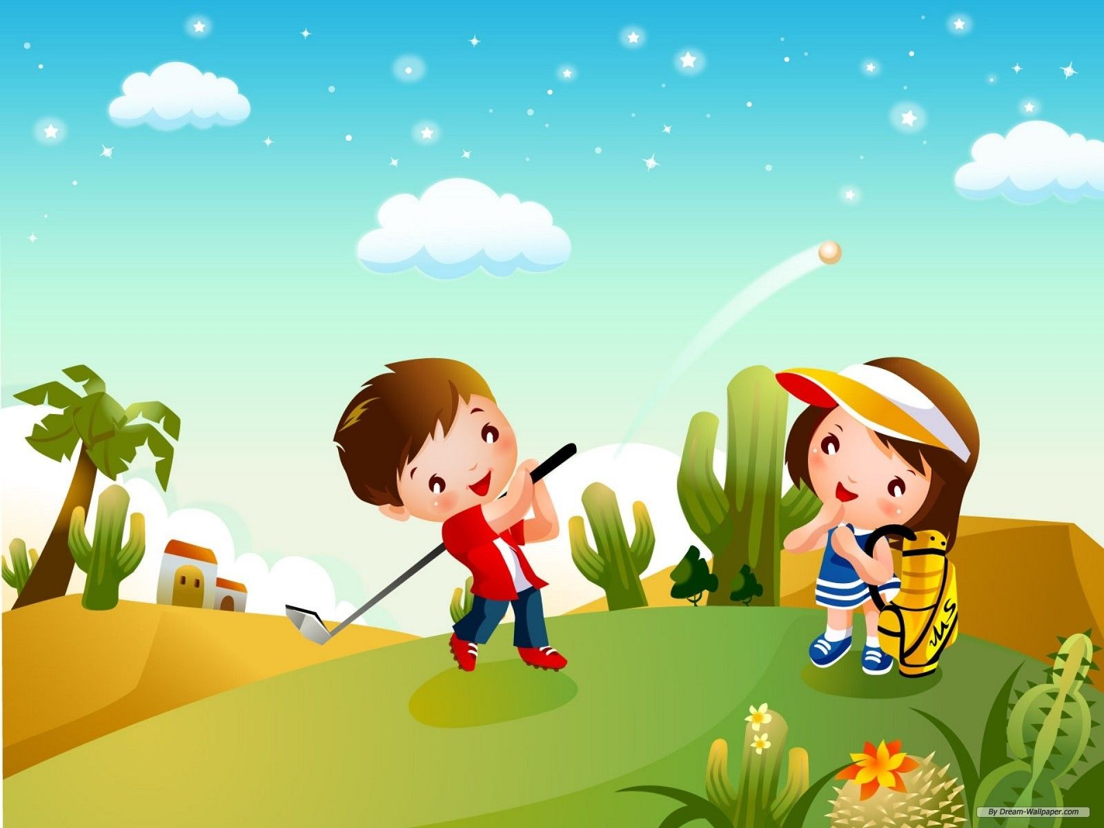 Free Cartoon Wallpaper - Children Games 1