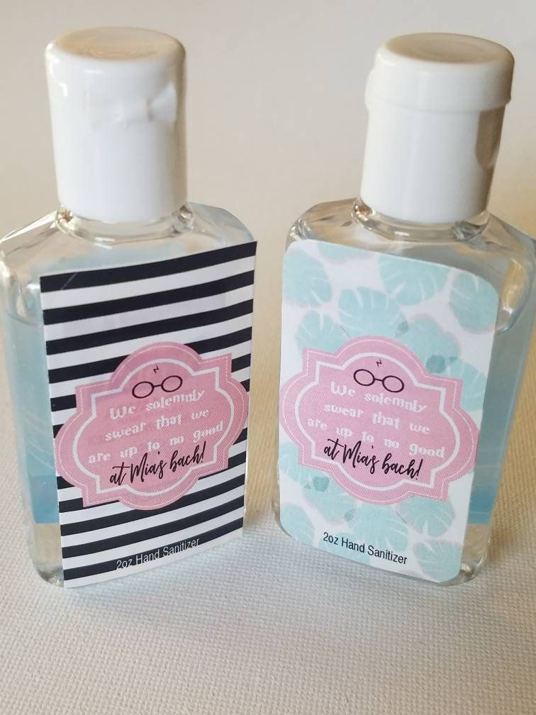 Harry Potter Bridesmaid Up To No Good Sanitizer Labels Party