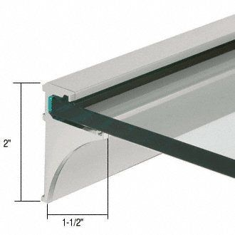 Crl Brushed Nickel 36 Aluminum Shelving Extrusion For 1 4 Glass By Cr Laurence By Cr Laurence Aluminum Shelves Glass Shelves In Bathroom Glass Shelf Supports