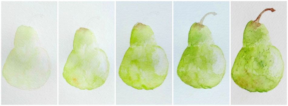 How To Watercolor Still Life Watercolor Fruit Beginning Watercolor