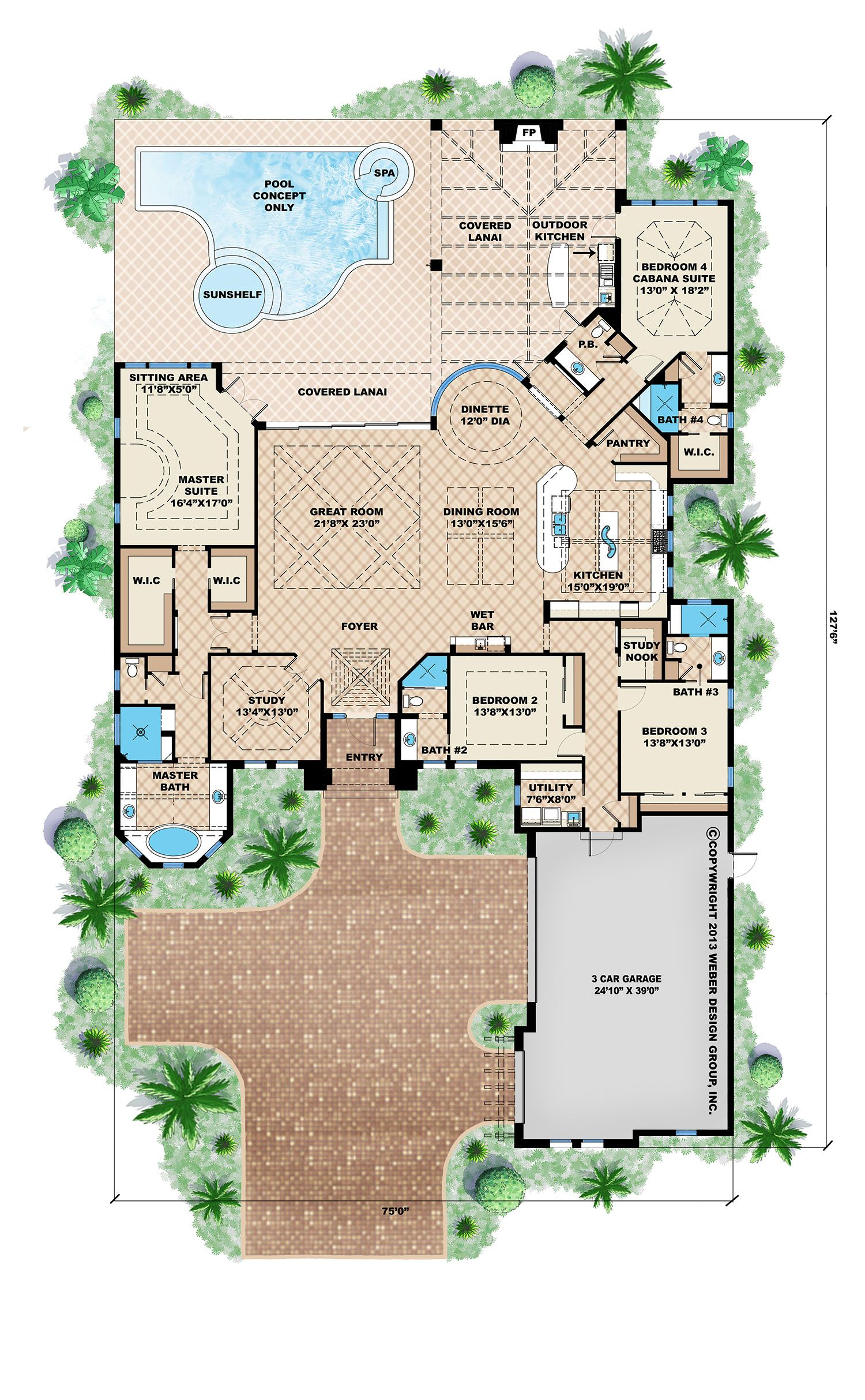 Mediterranean House Plan Coastal Contemporary Beach Home Plan Mediterranean Style House Plans Florida House Plans Luxury House Plans