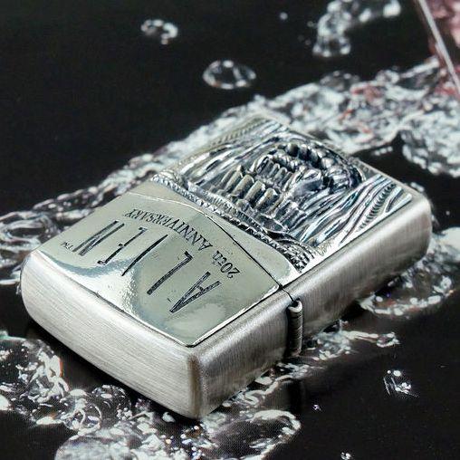 Rare Plated Silver 1998 Alien 20 Anniversary Mouth Zippo Lighter Limited Edition Zippo Lighter Zippo Zippo Butane Lighter