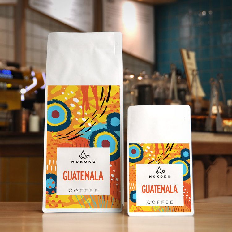 Coffee packaging design for independent coffee shop and