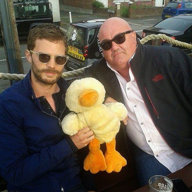Sorry lack photos we sittn in dirty  duck in jamies hometown  holywood where jamie took this pic #jamiedornan #holywood #belfast
