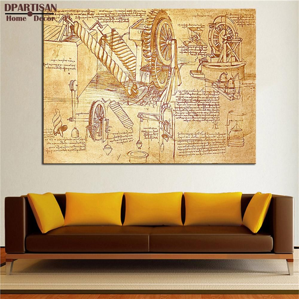 DPARTISAN Giclee poster and print invention By LEONARDO DA VINCI ...