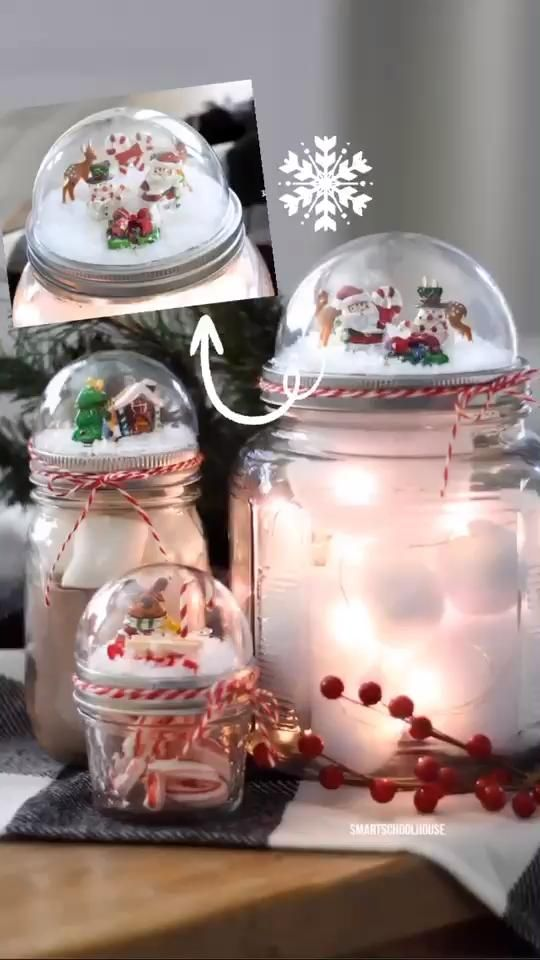 Christmas Snow Globes Decorations -   19 christmas decor diy how to make ideas