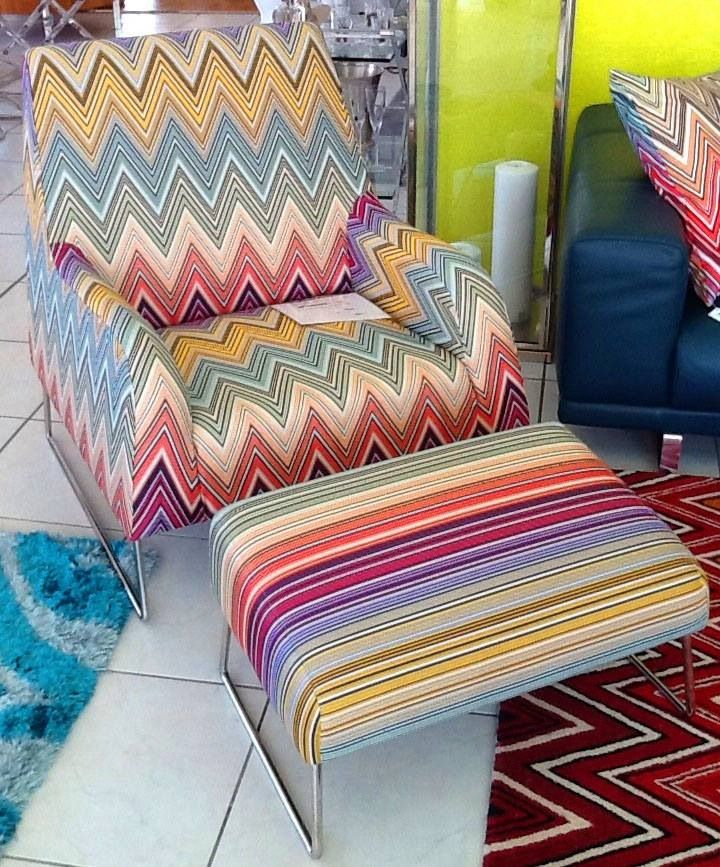 We Love This Custom Made Funky Missoni Fabric Chair! What Do You Think?