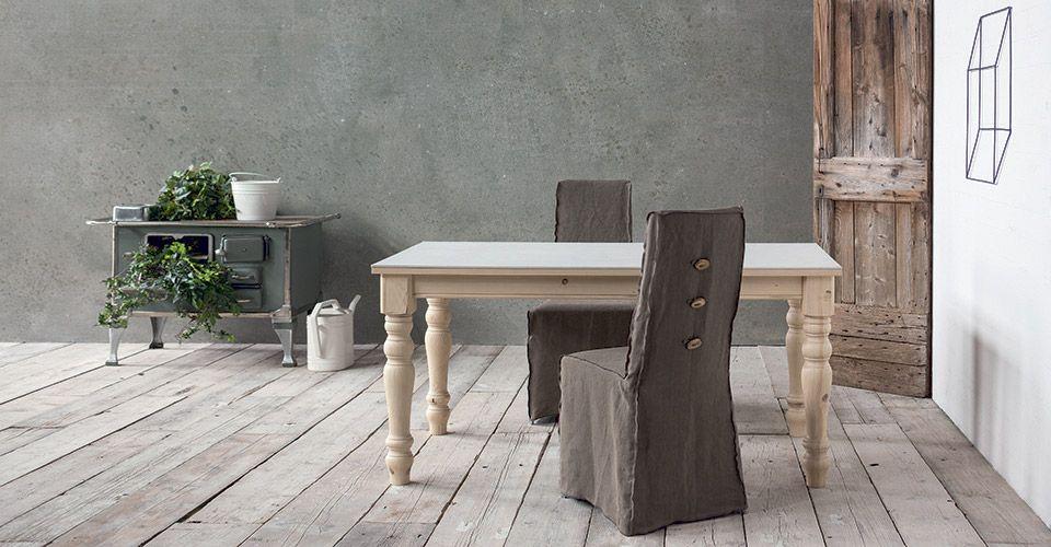 CLASSIC di SEDIT ricorda un po' i vecchi tavoli da cucina delle nonne, con le gambe tornite di ...