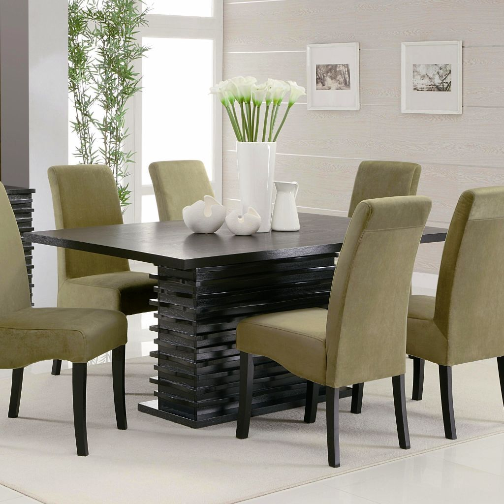 Contemporary Dining Room Chairs Cool Modern Dining Table Set Designs  Httplachpage  Pinterest Inspiration Design