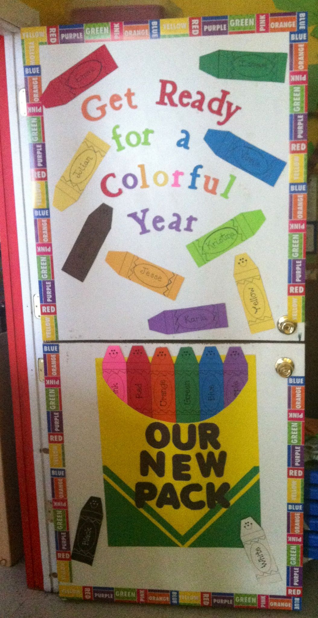 Back To School Theme Put Two Pins Together The Crayons Are Printable And The One With The Kids