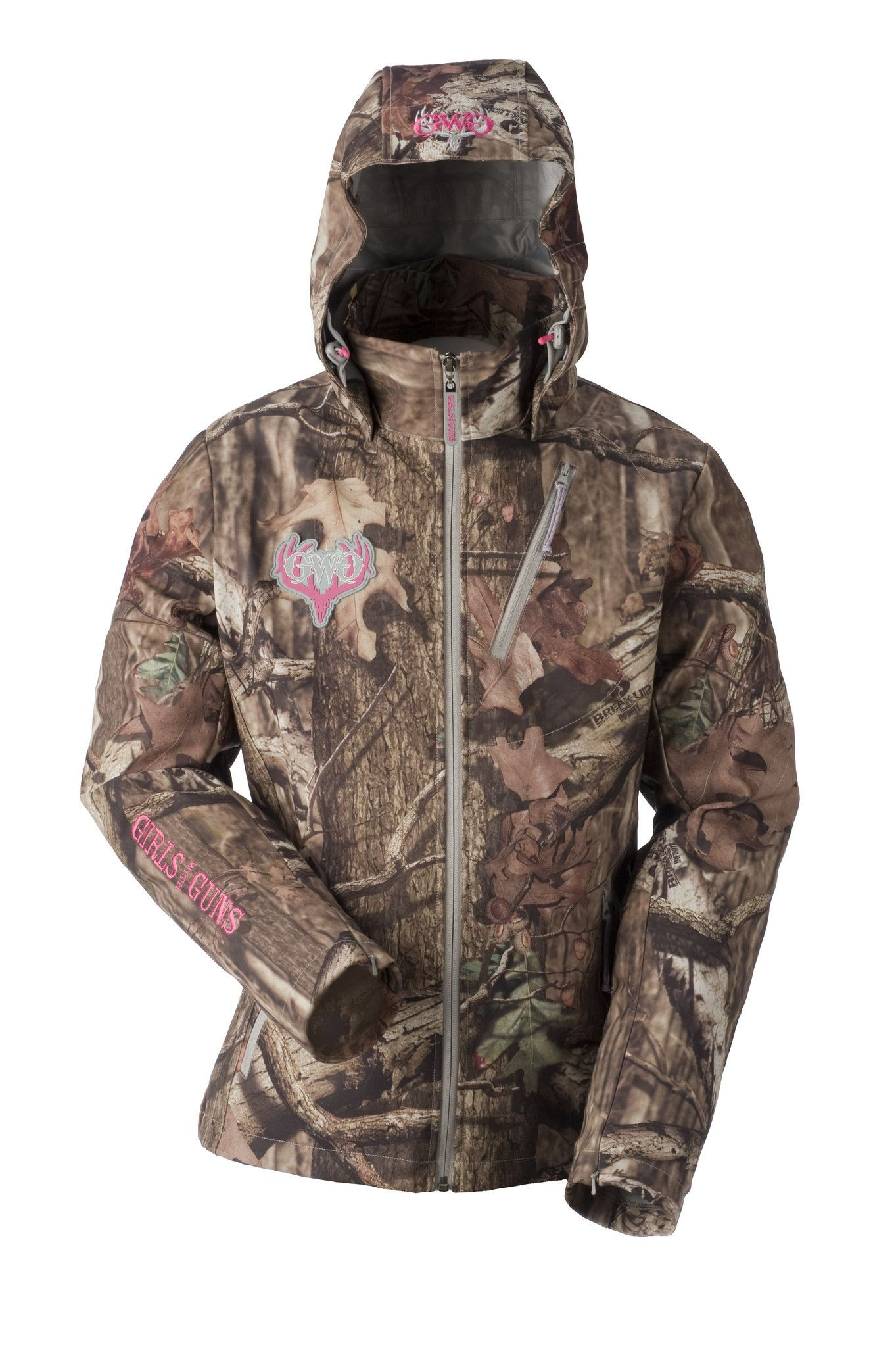 f7a9f3ee8c1eb GWG Midweight Jacket - Mossy Oak Break Up Infinity - Wind resistant  soft-shell with DWR treatment - Soft, micro tricot lining with embossed  logo - Removable ...