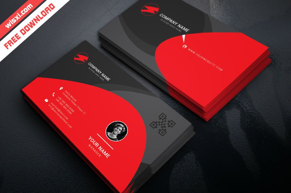 Red And Black Business Card Business Card Design Minimal Black Business Card Free Business Card Templates