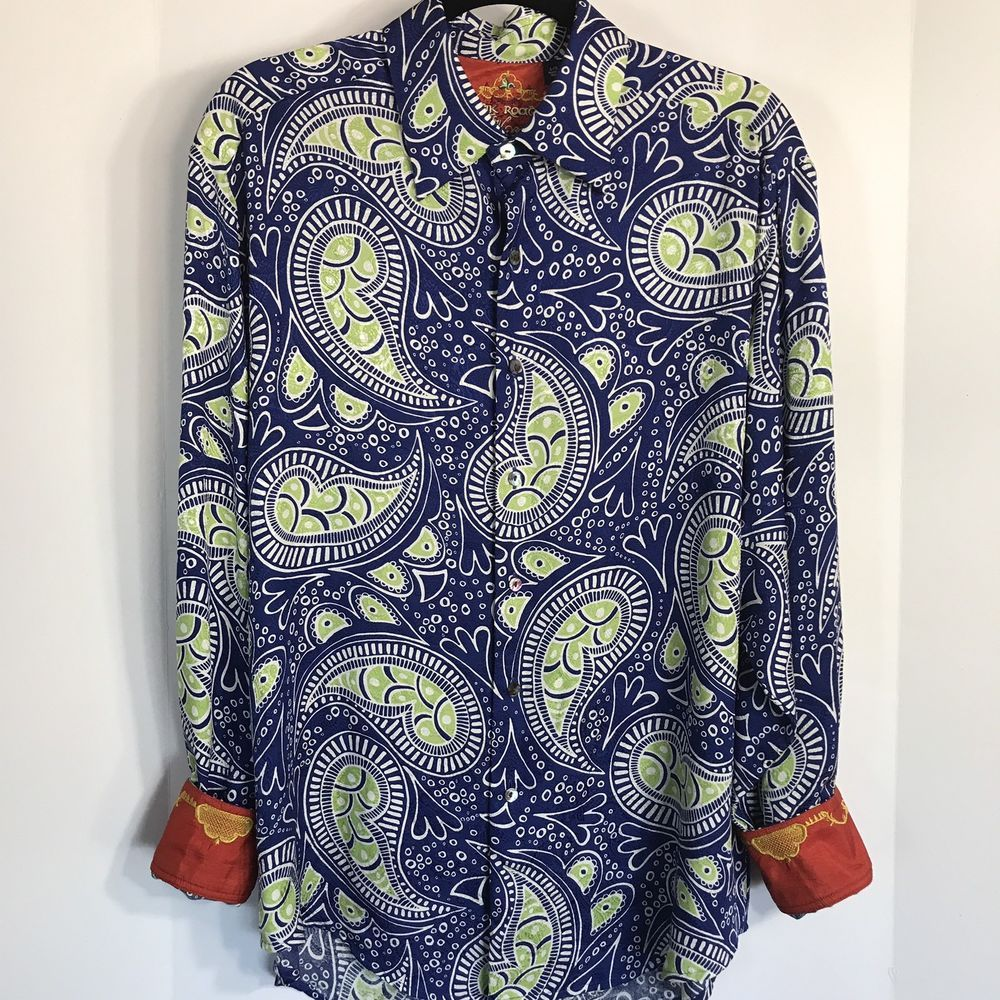 1e58af73 Robert Graham Juluca Silk Road Paisley Shirt Large #RobertGraham  #ButtonFront