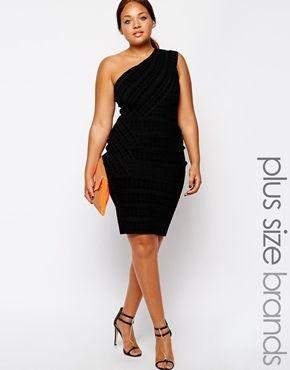 Plus Size Black Bandage Dress
